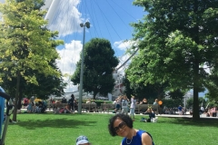 Mini picnic by London Eye